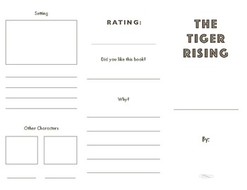 The Tiger Rising Story Brochure Summary Project