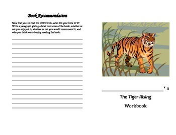 The Tiger Rising Student Workbook