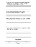 The Tiger Rising by Kate DiCamillo Reading Response Packet