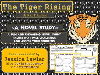 The Tiger Rising by Kate Dicamillo Novel Study