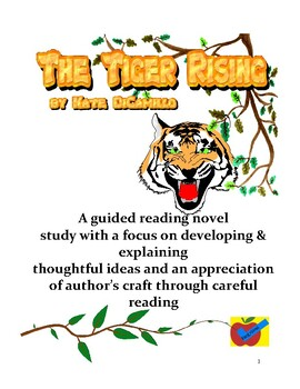 The Tiger Rising guided reading novel study
