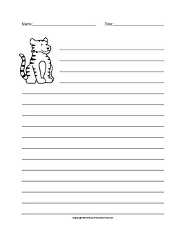 The Tiger Writing Paper Set