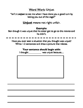 """The Tiger, the Brahman, and the Jackal"" Vocabulary Workbook"