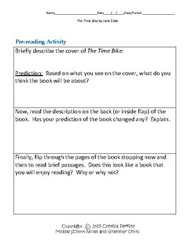 The Time Bike Complete Literature and Grammar Unit