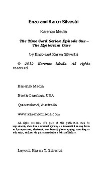 The Time Card Series - Book 1 - The Mysterious Case