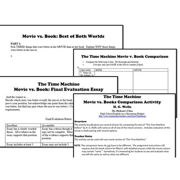 The Time Machine Activity Bundle (H.G. Wells) - Word