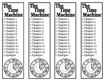 The Time Machine Chapter Checklist Bookmarks