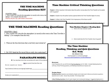 The Time Machine Reading, Thinking and Quiz Questions (H.G. Wells)