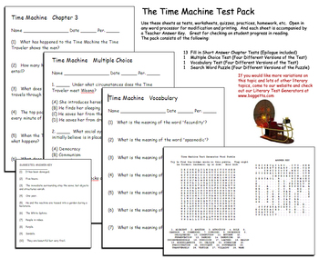 The Time Machine Test Pack