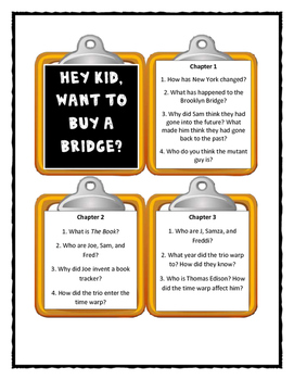 The Time Warp Trio HEY KID, WANT TO BUY A BRIDGE? - Discussion Cards