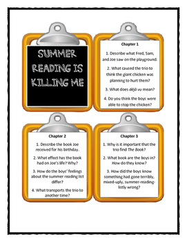 The Time Warp Trio SUMMER READING IS KILLING ME! - Discussion Cards