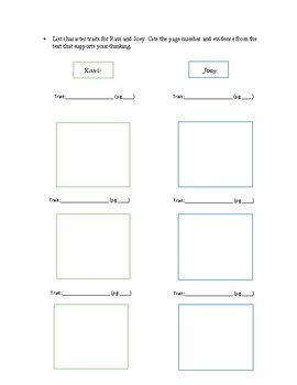 The Time We Ran Away and Other Short Stories Guided Reading Packet