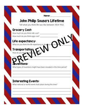 Music Worksheet: John Philip Sousa