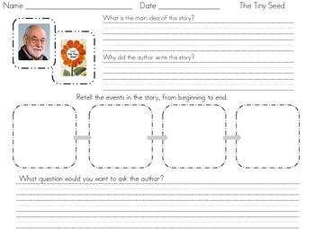The Tiny Seed (Response Sheet) Freebie