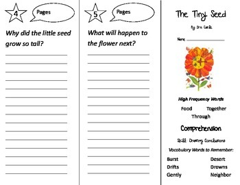 The Tiny Seed Trifold - Treasures 2nd Grade Unit 5 Week 1 (2011)
