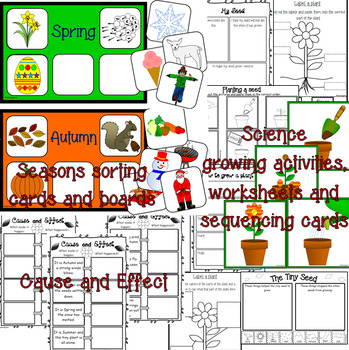 The Tiny Seed- book study unit and growing plants activities