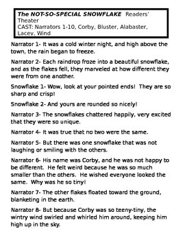 The NOT-SO-SPECIAL SNOWFLAKE Readers' Theater
