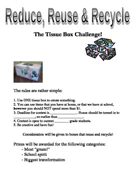 The Tissue Box Challenge! Earth Day or Any Day