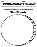 """The Titanic """"Commemorative Coin"""" Worksheet & Word Search"""