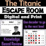The Titanic: Escape Room - Social Studies