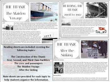 The Titanic - Mini Unit