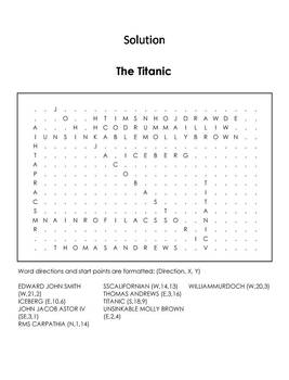 The Titanic Word Search