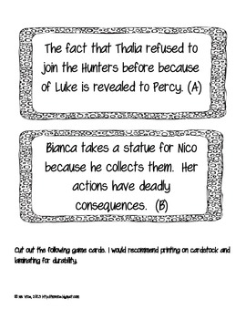 The Titan's Curse Chronological Order Sort