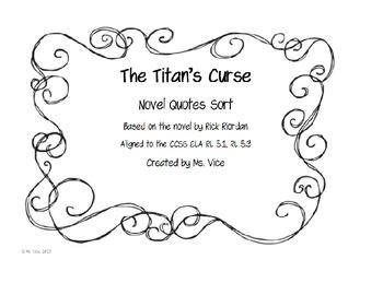 The Titan's Curse Quote Sort