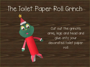 graphic regarding Grinch Printable Template known as The Lavatory Paper Roll Grinch - Printable Craft