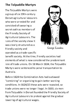 The Tolpuddle Martyrs Handout