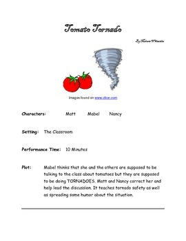 The Tomato Tornado - Small Group Reader's Theater