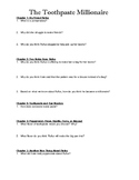 The Toothpaste Millionaire Comprehension Questions