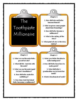 The Toothpaste Millionaire by Jean Merrill - Discussion Cards