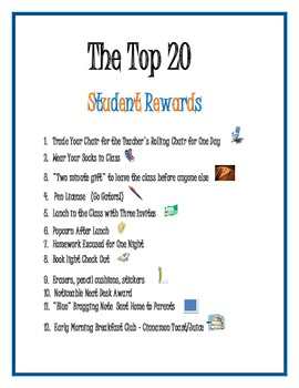 The Top 20 Student Rewards