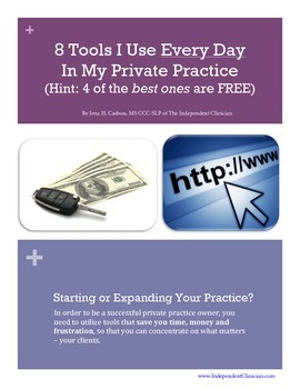 The Top 8 Tools I Use Everyday in My Speech Therapy Private Practice