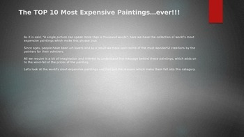 The Top Ten Most Expensive Paintings ....Ever!!!