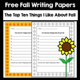 The Top Ten Things I Like About Fall