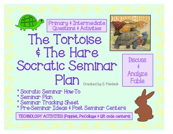 Pinkney's The Tortoise & The Hare Socratic Seminar plan WITH TECH  ACTIVITIES!