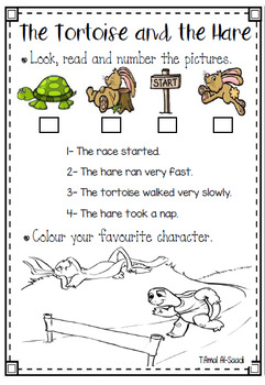 The Tortoise And The Hare Worksheet Free By Teacherhope Tpt