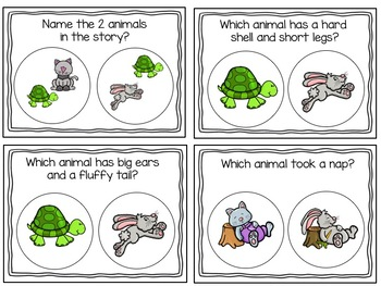 The Tortoise and the Hare...Adapted Book, Literacy Activities