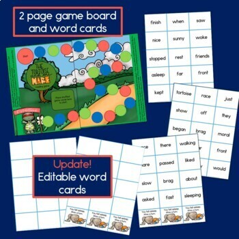 Fable: The Tortoise and the Hare, guided reading book, game, and story props