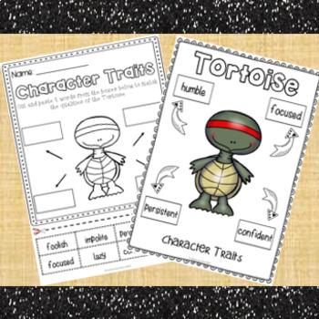 The Tortoise and the Hare Character Traits | Character Traits Activities