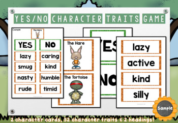 The Tortoise and the Hare Character Traits Game | Aesop's Fable Activity