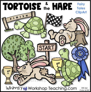 The Tortoise and the Hare Clip Art