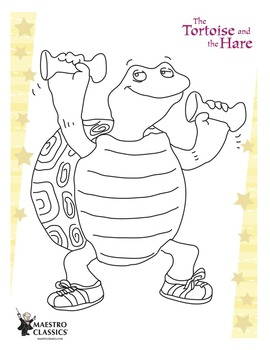 The Tortoise and the Hare Coloring Page