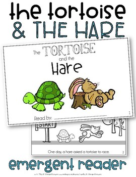 Emergent Reader Tortoise And The Hare Worksheets Teaching