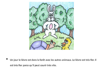 The Tortoise and the Hare Story and Activities For French 1