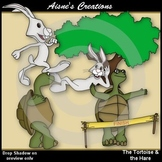 The Tortoise & the Hare Clipart