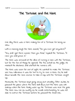 Aesop Fables: The Tortoise & the Hare