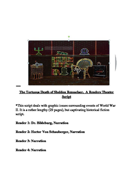 The Tortuous Death of a Hollywood Mogul,  [A Readers Theater Script]